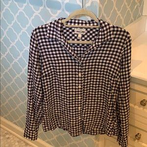 Checkered, long-sleeve shirt